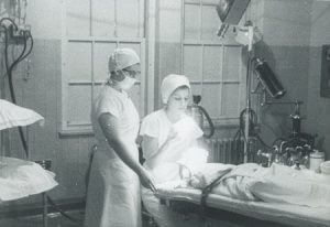 Bernassol, 25 years old in 1959, administers ether to a patient.She had been a CRNA for two years.