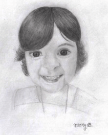 Evelyn Drawing by Mary M. Brockenbrough